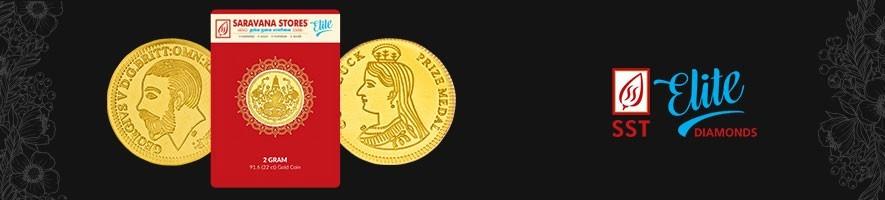 Gold Coins | Saravana Stores Elite| Online jewellery shopping