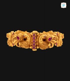 Mayur Motif Gold Bangle -0081