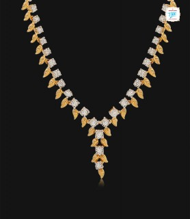 Comely Leaf Diamond Necklace