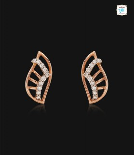 Charming Feather Stud - 0584