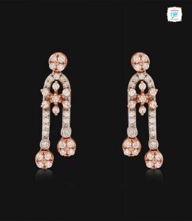 Glint Flora Drop Earrings -...