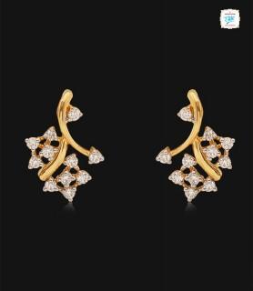 Duo Rosette Diamond Stud -...