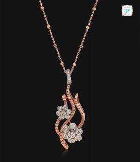 Twin Floral Diamond Pendant