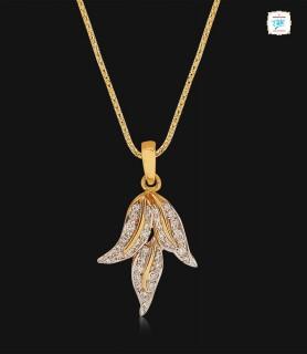 Triple Leaf Diamond Pendant