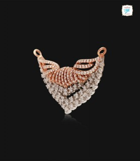 Gracious Leaf Diamond Pendant