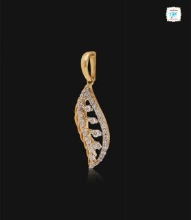 Fussy Feather Diamond Pendant