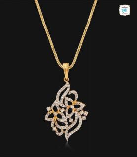 Dual Floral Diamond Pendant...