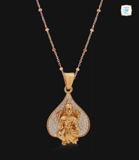 Laxmi Devi Diamond Pendant