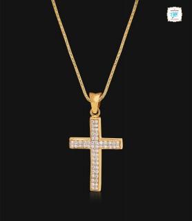 Stylish Cross Diamond Pendant