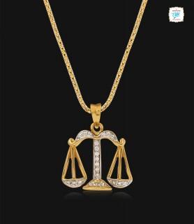 Modish Libra Diamond Pendant