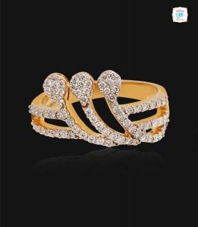 Trio Wave Diamond Ring - 0633