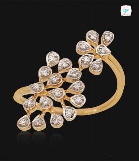 Wispy Dahlia Diamond Ring -...
