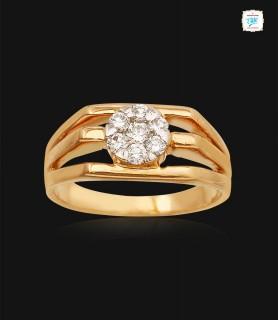 Squarish Domed Diamond Ring...