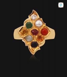 Antique Navaratna Ring - 0670