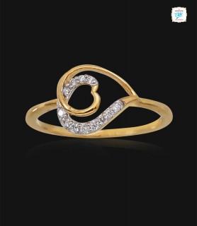Tricky Heart Diamond Ring -...