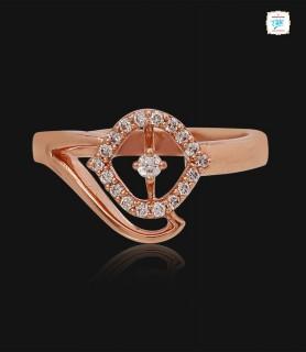 Twine Floral Diamond Ring -...