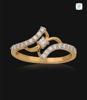 Twirl Petite Diamond Ring -...