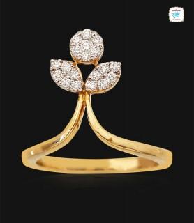Gleam Petal Diamond  Ring -...