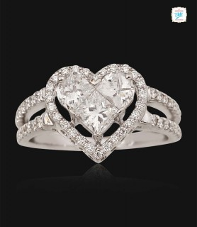 Glitter Heart Diamond Ring...