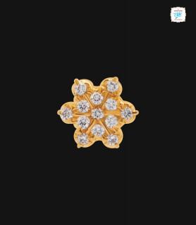 Geranium Diamond Stud - 0031