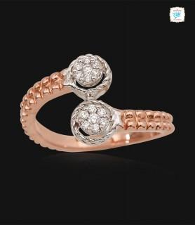 Duo Flower Diamond Ring - 0701