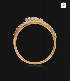 Glitter Wavy Diamond Ring -...