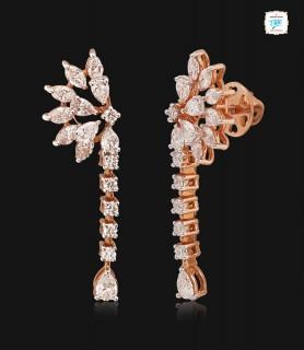 Amaranth Diamond Earrings -...