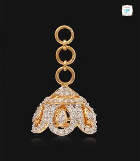 Grandeur Diamond Jhumka - 0718