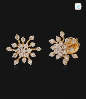 Snowflake Diamond Stud - 0724