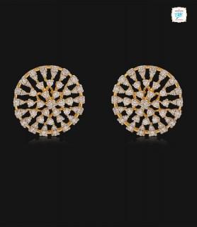 Ripple Diamond Stud - 0727