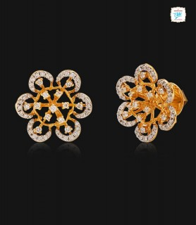 Daffodil Diamond Stud - 0746