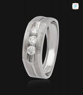 Triad Platinum Ring -0754