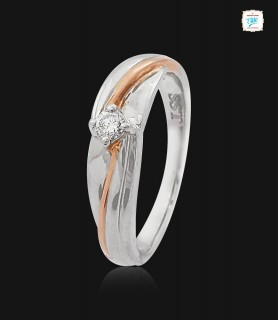 Wavy Twist Platinum Ring -0756