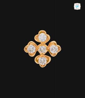 Flowerlet Diamond Stud - 0036