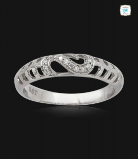 Fanciful Platinum Ring -0764
