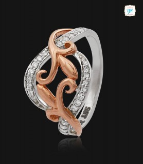 Paisley Platinum Ring