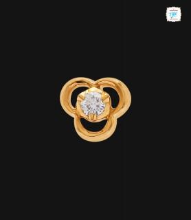 Rosette Diamond Stud - 0037
