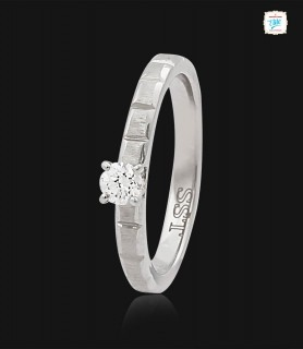 Entwine Platinum Ring -0775