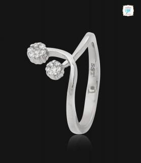Twine Rosebud Platinum Ring...