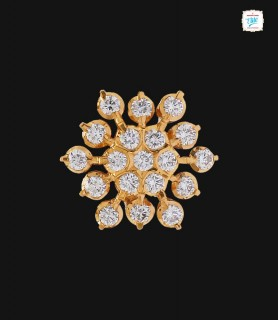 Dahlia Diamond Stud - 0042