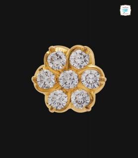 Plumeria Diamond Stud - 0043