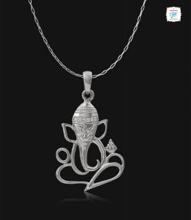 Ganesha Platinum Pendant -0848