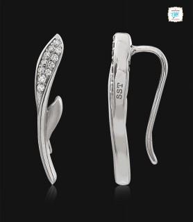Rosebud Platinum Earrings...