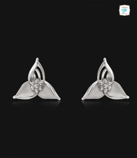 Trio Bloomy Platinum Stud -...