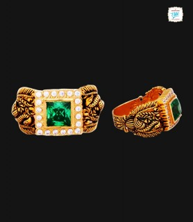 Antique Peacock Gold Ring -...