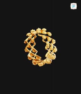 Flora ZigZag Gold Ring - 0405