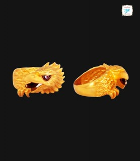 Hawk Eagle Wing Gold Ring -...