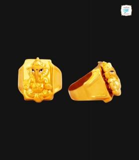 Lord Gajanana Gold Ring  -...