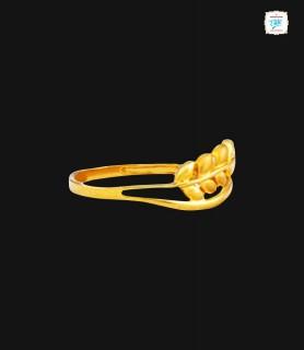 Olive Leaf Gold Ring - 0347