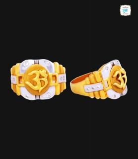 Om Shanti Rhodium Gold Ring...